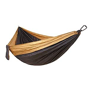 zhuhaixmy portátil de alta resistencia tela de paracaídas ligera hamaca Swing cama de aire doble para jardín, picnic, viajes al aire libre y senderismo, color 2