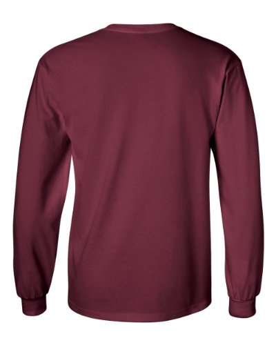 Uber Driver New Logo Mens Gildan Heavy Cotton Long Sleeve T Shirt Tee New Maroon