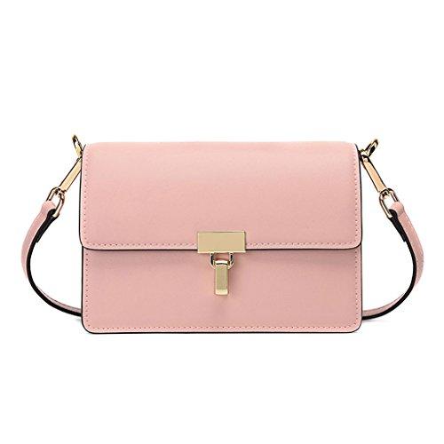 petit sac Pink mode féminin Européen américain Sac carré unie Lxf20 couleur et SOPn8WWzc