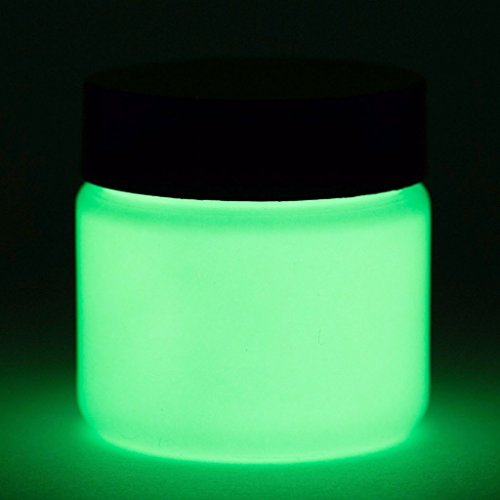 Glow in The Dark Paint - Premium Artist's Acrylic - 1 Ounce (Neutral Green) - 5+ Colors Available -