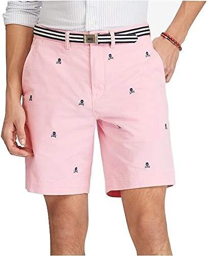 Polo Ralph Lauren Flat Front Chino Short (Pink/Skull, 33)