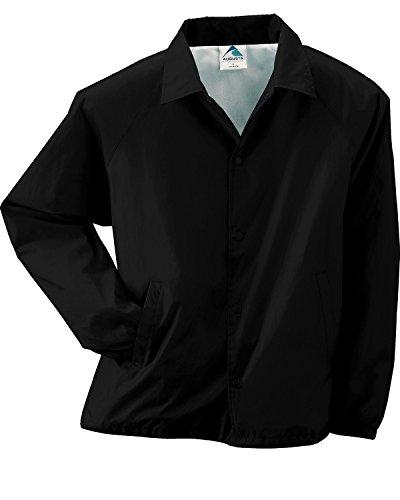 - Augusta Lined Nylon Coach's Jacket (3100)- BLACK,2XL