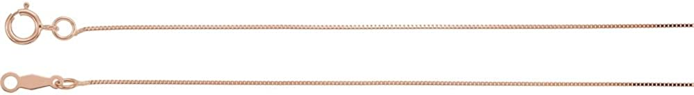 14K Rose Gold .55mm Solid Box 18 Chain