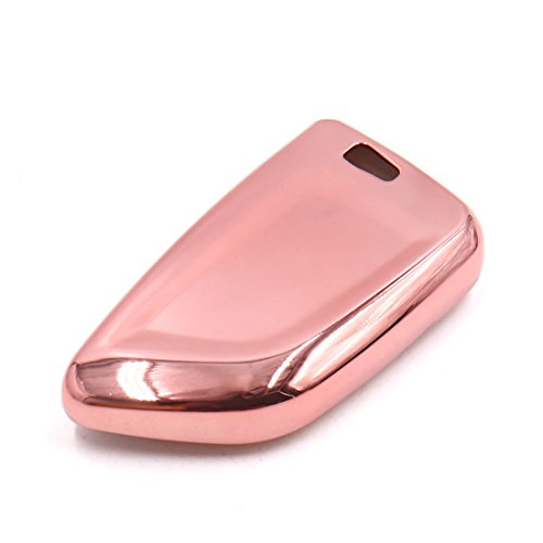 uxcell Pink Plastic Remote Key Case Holder Shell Cover For 2017 BMW X5 X1 X6 by uxcell