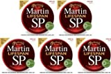 Martin MSP6100 SP Lifespan 80/20 Bronze Light Acoustic Strings 2-Pack