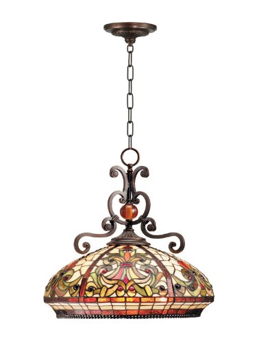 Dale Tiffany TH101034 Boehme Pendant Lamp, Antique Golden Sand - Dale Tiffany Hanging Pendant Lamp
