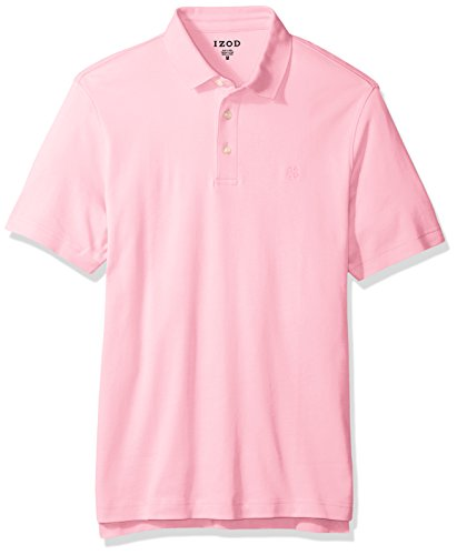 IZOD Men's Winward Short Sleeve Solid Interlock Polo, Fairy Tale, X-Large -