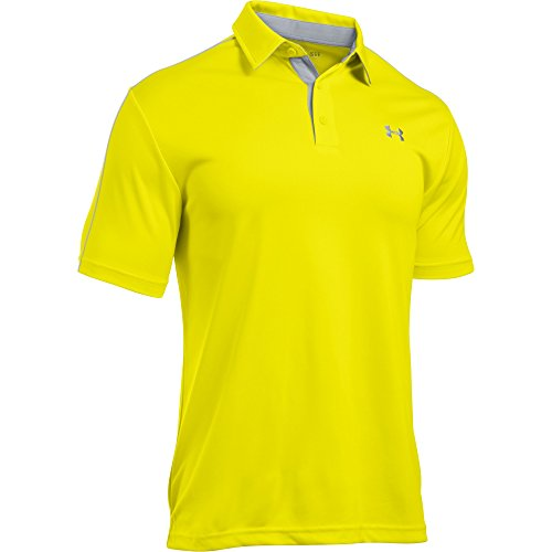 Under Armour Men's UA Leaderboard Polo (Medium, Flashlight) (Under Armour Flash Shirt)