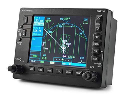 RealSimGear GNS530 Bezel | Realistic GPS Hardware for Flight Simulators | Student Pilot Navigation System | 5 LCD Display Screen