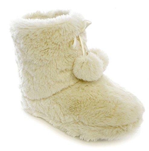 SlumberzzZ - Zapatillas de estar por casa de Material Sintético para mujer Blanco - marfil