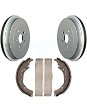 Rear Coated Brake Drum Shoes Kit For 2009-2019 Toyota Corolla