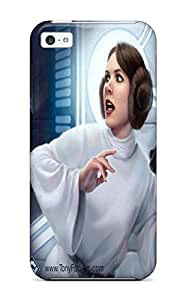 Tpu DanRobertse Shockproof Scratcheproof Star Wars Leia Organa Hard Case Cover For Iphone 5c