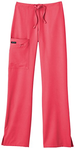 Hibiscus Collection (Classic Fit Collection By Jockey Women's Tri Blend Zipper Scrub Pants XX-Large Petite Hibiscus)