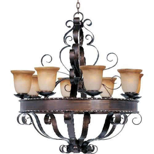 Maxim Lighting Aspen Oil Rubbed Bronze 8-Light Chandelier 20610VAOI