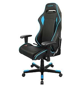 DXRacer D-Series - Silla de oficina, color negro y azul