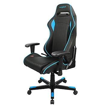 Robas Lund DXRacer R Series Chaise De Bureau Noir Bleu