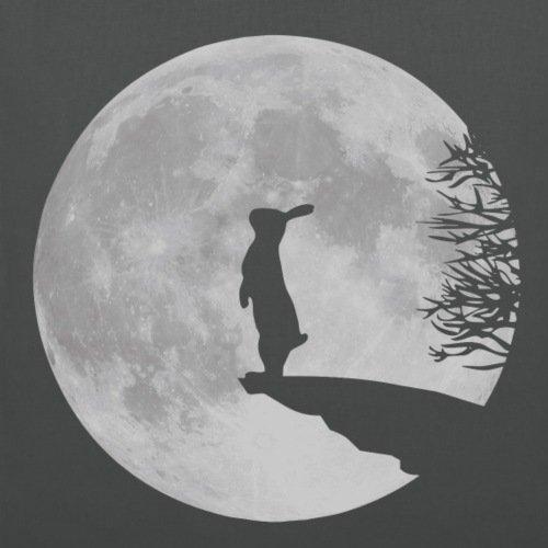 Cute Grey Full Tote Moon And Graphite Bag Rabbit Animals Spreadshirt zqaIq