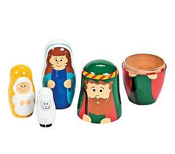 UPC 886102320549, Nativity Holy Family Nesting Doll Set of 4 - Jesus Mary Joseph Lamb