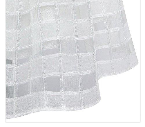 Huixin Rock Damen Kurz Sommer Elegant Casual Mode Organza Röcke A Linie Swing High Waist Bekleidung Plisseerock Faltenrock Minirock Weiß HN7WruHE