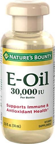 - Nature's Bounty Vitamin E-Oil 30,000 IU (Topical or Oral), 2.5 ounces