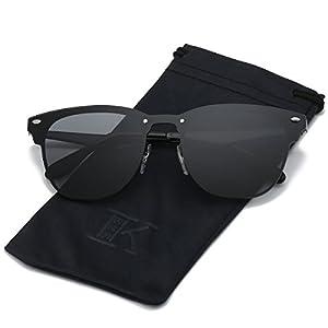 LKEYE Clubmaster Classic Unisex Sunglasses Futuristic Integral Rimless Lens LK1738