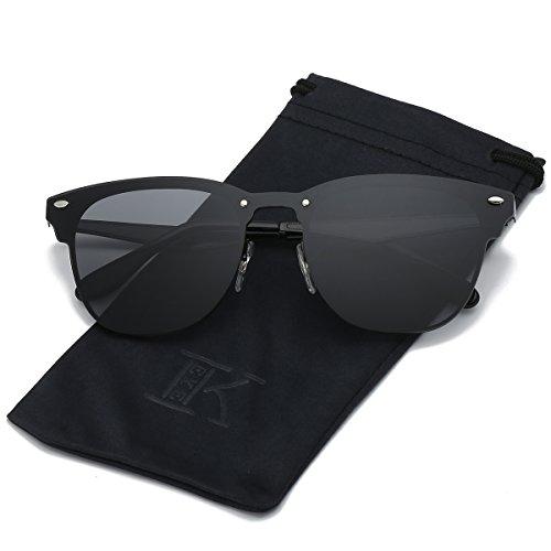 LKEYE Clubmaster Classic Unisex Sunglasses Futuristic Integral Rimless Lens LK1738 (Classic Eyewear)