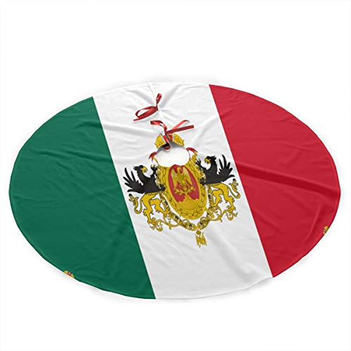 (G-Fulling Mexican Flag Christmas Tree Skirt Ornament Print Christmas Tree Mat Party Holiday Decorations)
