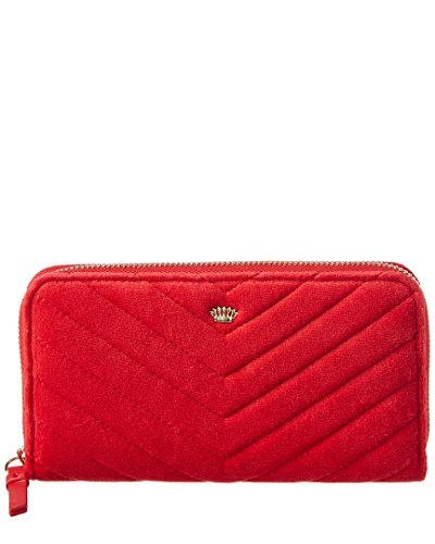 Juicy Couture Womens Zip Around Wallet, (Velour Zip Around Wallet)