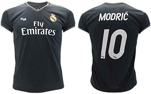 Camiseta de Fútbol Luka Modric 10 Real Madrid 2ª Equipación Negra ...