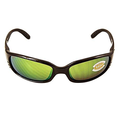 Costa Del Mar BR22OGMP Brine Sunglass, Gunmetal Green Mirror Costa Del Mar Gunmetal Sunglasses