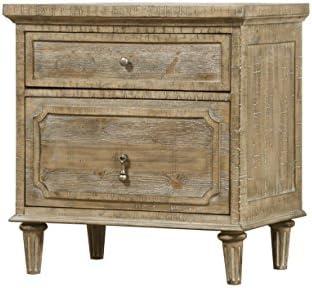 Artum Hill Kensington Nightstand, 2-drawer, limestone gray