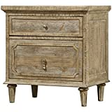 Artum Hill BE5-825 Kensington Nightstand, 2-Drawer, Limestone Gray