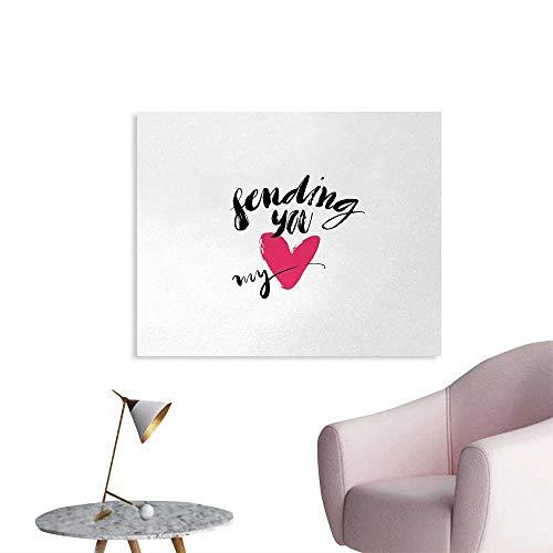 Tudouhoho Love Custom Poster Ink Brush Hand Lettering