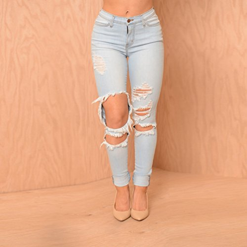 Pantaloni Leggings Low Lunghi Jeans Donna Scarni Zkoo Denim Rise Cotone Azzurro In Matita ZnAExSwq
