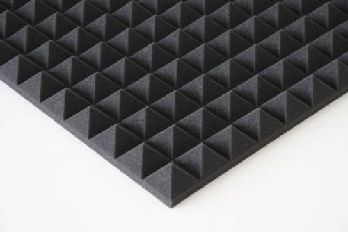 50 stk. Pyramiden Akustikschaumstoff Akustik Schaumstoff, Akustik Dä mmung ca 49 x 49 x 4 cm Anthrazit mail2mail