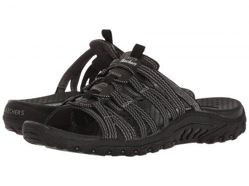 SKECHERS(スケッチャーズ) レディース 女性用 シューズ 靴 サンダル Reggae - Repetition - Black [並行輸入品]