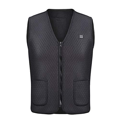 Heated Vest Rechargeable USB Charging Adjustable Winter Warm Vest Electric Jacket Heating Clothing Thermal Waistcoat for Back Pain Outdoor Hunting Camping Hiking Motorcycle (No Battery)
