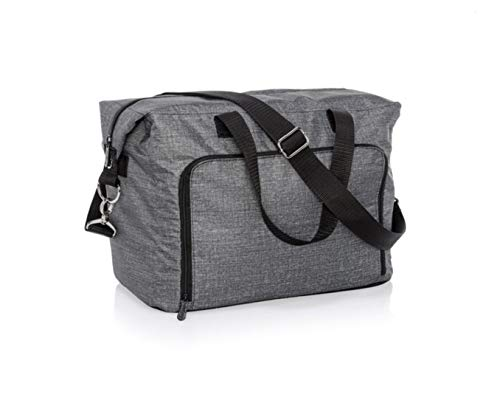 Thirty One Essentials Carry-All (Hostess Exclusive) in Charcoal Crosshatch - 8844