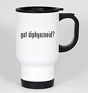 got diphyozooid? - 14oz White Travel Mug