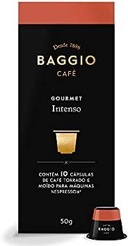 Cápsulas para Café Intenso Baggio Café, Compatível com Nespresso, Contém 10 Cápsulas