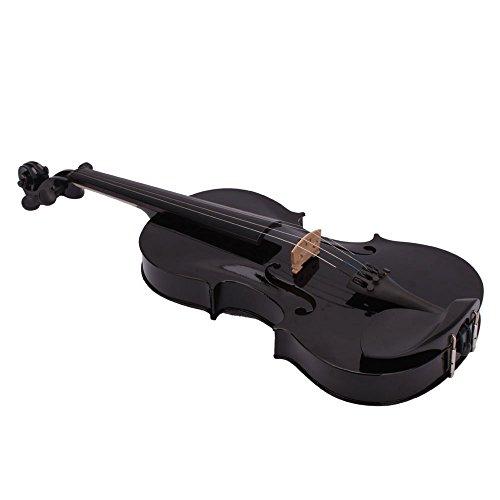 Lovinland 4/4 Acoustic Violin Beginner Violin Full Size with Case Bow Rosin Black by Lovinland (Image #2)