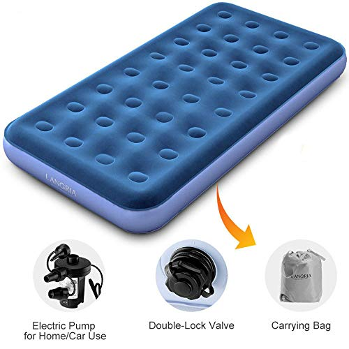 Upgraded Twin Size Inflatable Air Bed 8.5-Inches Air Mattress Bed +Electric Pump