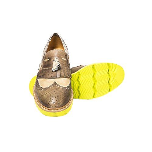cuero sin cordonesHombres Arena zapatos Hombres elegantes Italy in Made 1040 de de fNew cordones Air Vintage elegantes Vintage cuero 2356 sin Mod Mocasin Mocasin zapatos UominiItaliani q48068w