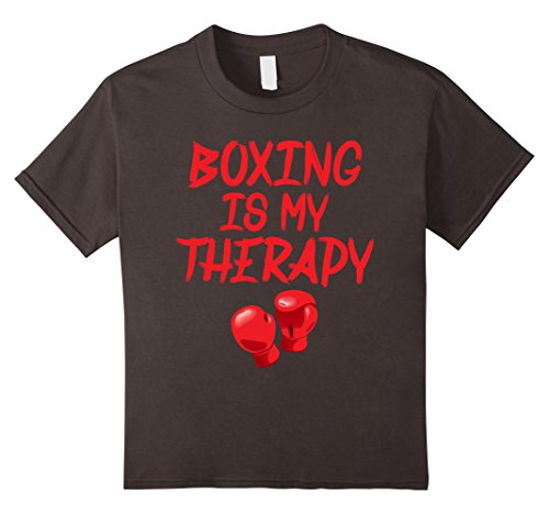 Kids Boxing Shirts: Boxing Is My Therapy Tee Boxer 8 Asphalt