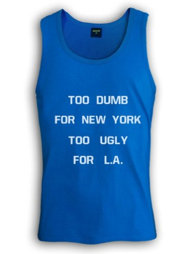 Green Turtle - TOO DUMB FOR NEW YORK TOO UGLY FOR L.A Turquoise Large Singlet