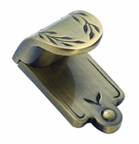 Amerock Inspirations Elegant Brass - Amerock BP1583-EB Inspirations Leaf 1-7/8-Inch Length Finger Pull, Elegant Brass