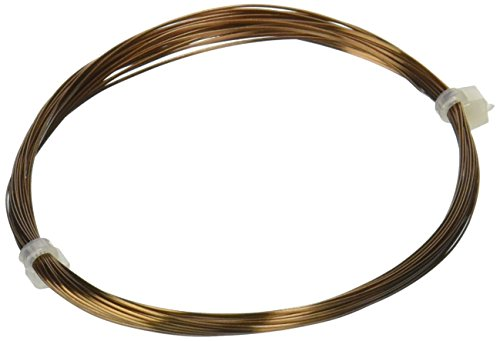(Beadalon 21-Gauge Half Round Wire for Jewelry Making, 4m, Antique Brass)