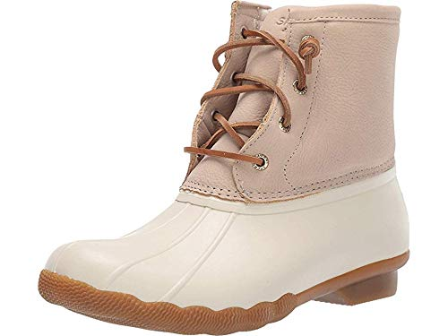 Sperry Womens Saltwater Boots, Ivory, 8