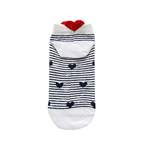 Tpingfe Women Men Socks Casual Work Heart-Shaped Cotton Love Fashion Sock Comfortable (D)