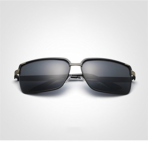 polarizadas del marco las oro gafas la Gafas polarizadas hombres de sol RFVBNM los aire de de la libre manera de personalidad al de sol de oro 4t8w0x